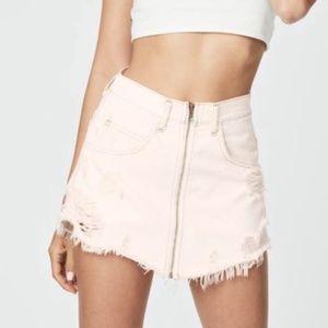 Pink Carmar LF Denim Beatrice Skirt